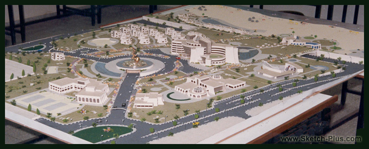 architectural engineering models. Tourist Complex Architectural Engineering Models H