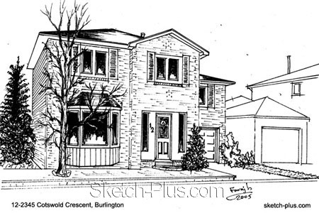 Sketch House House Sketch Stock Images Royalty Free Images