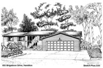 Sketch of House: 833 Brigadoon Drive, Hamilton