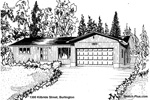 Sketch of House: 1300 Kilbride Street, Burlington