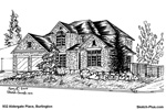 Architectural Sketch: 932 Aldergate Place, Burlington