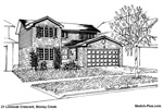 Architectural Sketch: 21 Loneoak Crescent, Stoney Creek