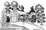 House Sketches: 354 East Side Crescent, Burlington