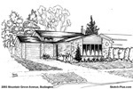 Sketch of House: 2093 Mountain Grove Avenue, Burlington
