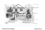 Architectural Sketch: 2461 Sutton Drive, Burlington