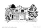 House Sketches: Unit 4 - 3243 New Street, Burlington