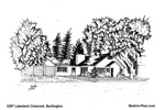 House Sketch of 3297 Lakeland Crescent, Burlington