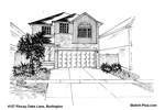 House Sketch of 4127 Pincay Oaks Lane, Burlington