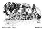 Sketch of House: 2148 Deyncourt Drive, Burlington