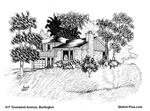 Architectural Sketch: 417 Townsend Avenue, Burlington
