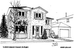 Architectural Sketch: 12-2345 Cotswold Crescent, Burlington