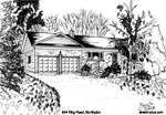 House Sketch of 834 King Road, Burlington