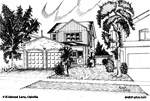 House Sketch of 415 Atwood Lane, Oakville