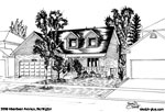 Sketch of House: 3309 Aberdeen Avenue, Burlington