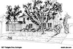 Architectural Sketch: 1957 Fieldgate Drive, Burlington