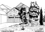 Architectural Sketch: 13 Dalrymple Drive, Waterdown