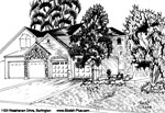 House Sketch of 1154 Westhaven Drive, Burlington