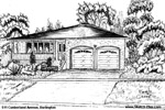 House Sketch of 511 Cunberland Avenue, Burlington
