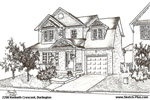 House Sketch of 2200 Kenneth Crescent, Burlington