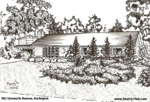 Sketch of House: 982 Unsworth Avenue, Burlington