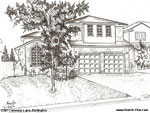 Architectural Sketch: 2382 Cummins Lane, Burlington