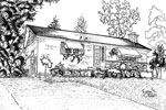 House Sketch of 1303 Princeton Crescent, Burlington